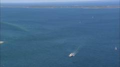 AERIAL United States-Vineyard Haven - stock footage