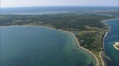 AERIAL United States-Muskeget Island Stock Footage