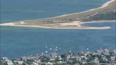 AERIAL United States-Nantucket Beach Houses Stock Footage