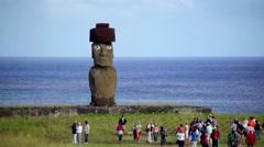 Easter Island Tourists 05 HD - stock footage