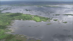 AERIAL Ireland-Galway Bay - stock footage