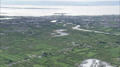 AERIAL Ireland-Outskirts Of Galway - stock footage