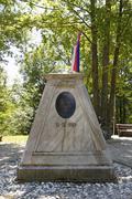 Stock Photo of Boundary stone at the border triangle of Slovenia Hungary Austria Southern