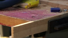 Broken Nail File From The Jig - stock footage