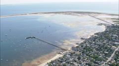 Stock Video Footage of AERIAL United States-Provincetown