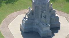AERIAL United States-National Monument To The Forefathers Stock Footage