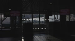 Airport departure terminal. Travel Transportation Business Airplane Terminal Stock Footage