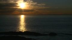 Winter sunset in Laguna Beach, California. Stock Footage