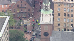 AERIAL United States-Old South Meeting House Stock Footage