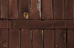 textured wooden wall - stock photo