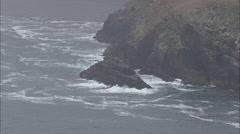 AERIAL Ireland-Rocky Coast On Dingle Bay Stock Footage