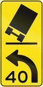 Tilting Truck - Advisory Speed in Australia Stock Illustration
