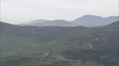 Flying Over Hill Tops Towards Glengarriff Stock Footage