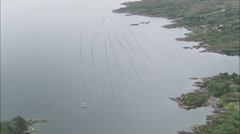 AERIAL Ireland-Low Approach And Reveal Of Gernish Island Stock Footage