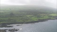 AERIAL Ireland-Dunmanus Bay Stock Footage