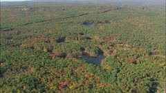 AERIAL United States-Fall Colours Near Greenville Stock Footage