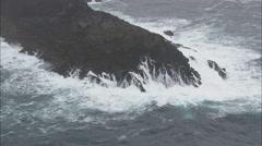 AERIAL Ireland-Mizen Head Stock Footage