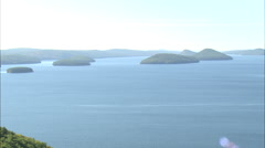 AERIAL United States-Quabbin Reservoir Stock Footage