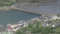 AERIAL Ireland-Glandore Harbour Stock Footage
