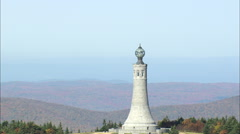 AERIAL United States-Mount Greylock Stock Footage