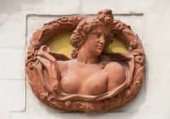 Stock Photo of Relief medallion on the external facade of the old palace Bayreuth Upper