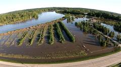 Flooding in Iowa USA Stock Footage