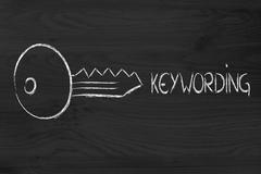 Stock Illustration of keywords, searches and internet