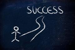 Road to individual success Stock Illustration