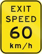 Advisory Exit Speed in Australia - stock illustration