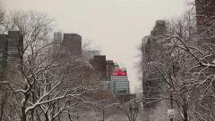 Central Park In Snow 05 HD Stock Footage