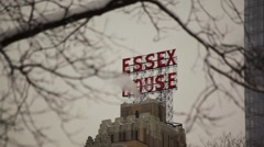 Essex House In Snow 01 HD Stock Footage