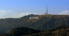 Iconic Hollyood Sign, Los Angeles, 2015 Stock Footage