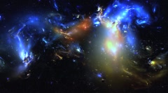 3D  Vj Loop Space Flight Nebula Universe Stars Cosmic Visual Background Stock Footage