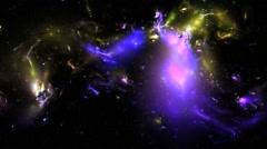 3D  Vj Loop Space Flight Nebula Universe Stars Cosmic Visual Background Stock Footage