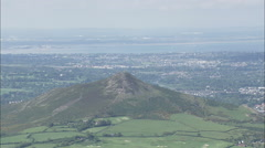 AERIAL Ireland-Djouce And Great Sugar Loaf Mountain Stock Footage