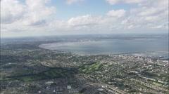 AERIAL Ireland-Dublin Harbour Stock Footage