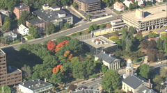 AERIAL United States-Quincy City Hall Stock Footage