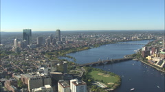 AERIAL United States-Charles River Stock Footage