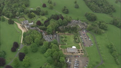 AERIAL United Kingdom-Broughton Hall Stock Footage