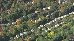 AERIAL United States-Brookline Suburbs Stock Footage
