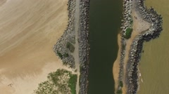 Aerial View of a Canal in a beach in Espirito Santo, Brazil Stock Footage
