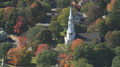 AERIAL United States-Unitarian Church Stock Footage