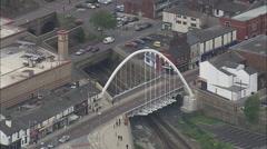AERIAL United Kingdom-Bolton Stock Footage