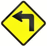 Left Curve Ahead In Indonesia - stock illustration