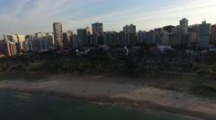 Amazing Sunset in a beach in Espirito Santo, Vitoria, Brazil Stock Footage