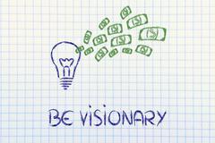 conceptual image of a winning profitable idea - stock illustration