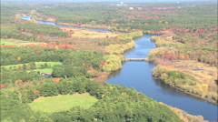AERIAL United States-Fall Colours Near Befford - stock footage