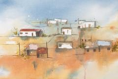 African Village. Stock Illustration