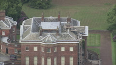 AERIAL United Kingdom-Tabley House Stock Footage
