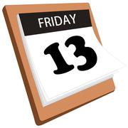 Friday the 13th - stock illustration